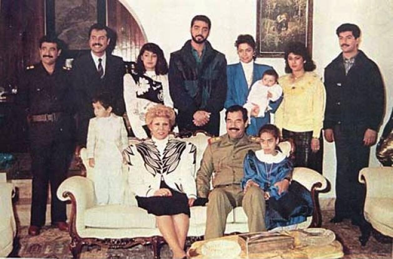Saddam Hussein y su familia