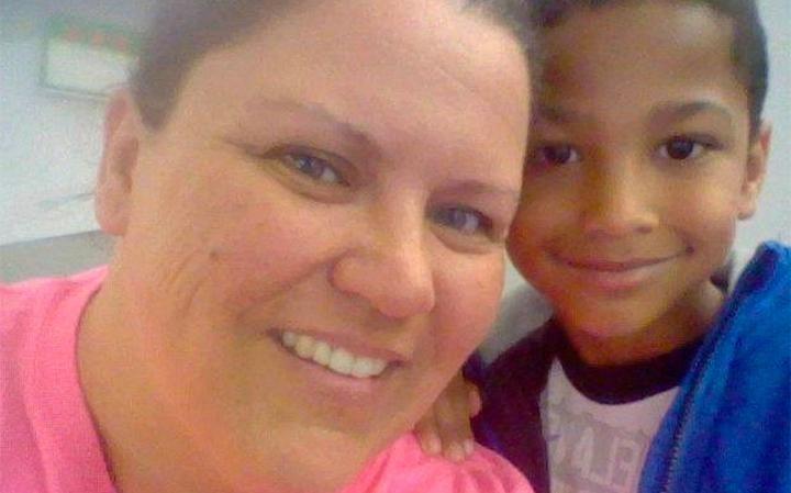 Tristan Jacobson y su mamá