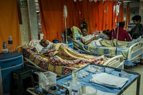 Dormitorio común de los pacientes