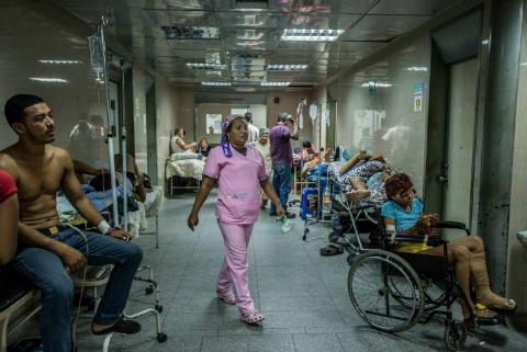 Pasillo de un hospital