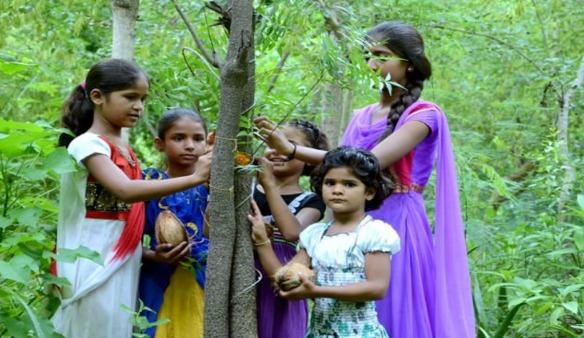 Mujeres alrededor de un árbol
