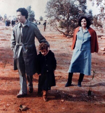 Muammar Gadafi y Safia Farkash