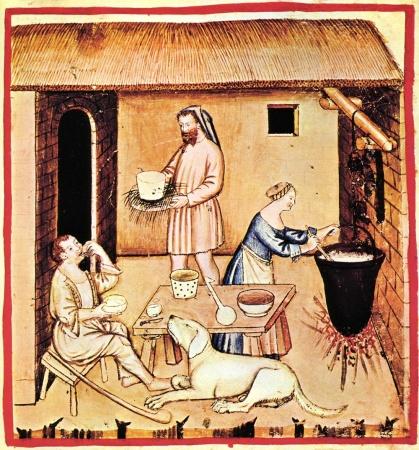 Personas comiendo y cocinando