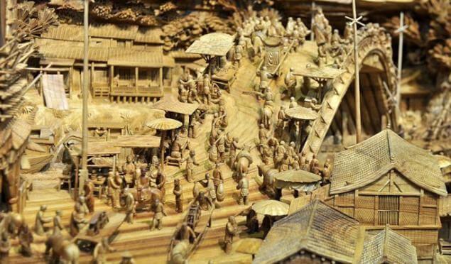 Representación de una ciudad en el tallado