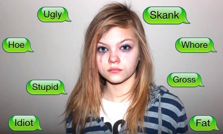 Insultos a una muchacha