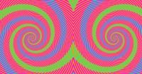 ¿Eres capaz de identificar de qué color son los espirales?