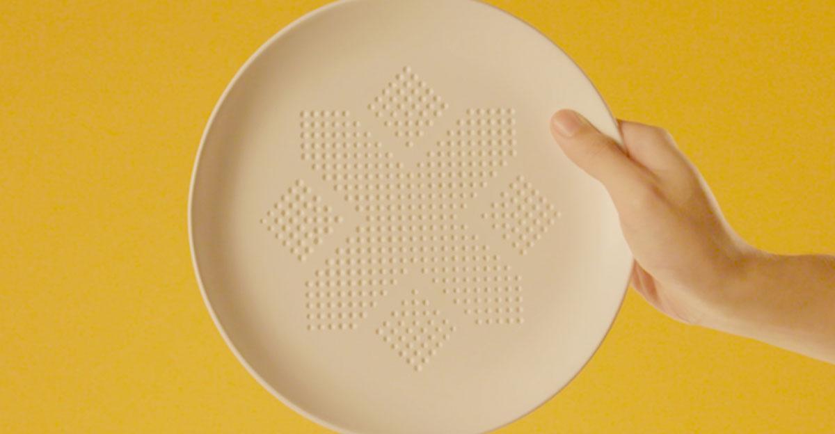 Imagen del plato que absorbe