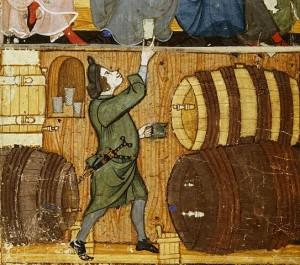 Hombre ofreciendo un trago