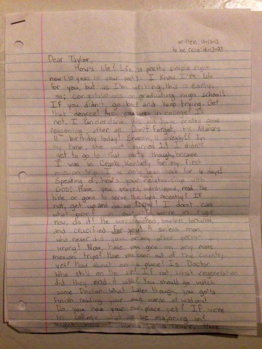 Carta de Taylor Smith