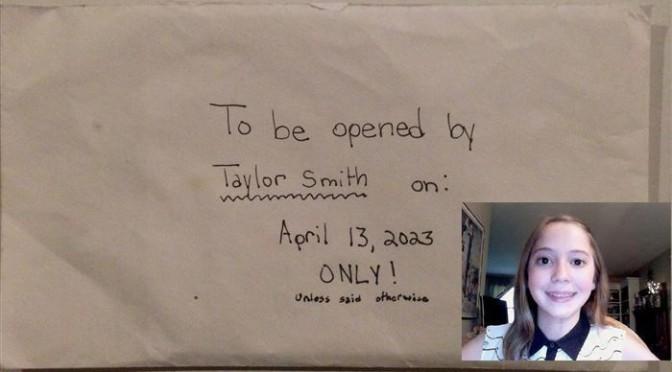 Sobre con la carta de Taylor