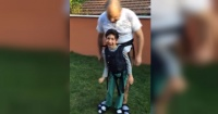 Este ingenioso padre creó esto para que su hijo pudiera jugar en el jardín