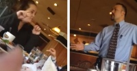 No quiso pagar la cuenta del restaurante cuando le pidieron calmar a su hijos y esto ocurrió