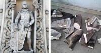 Se quiso tomar una selfie en el lugar menos indicado y rompió una estatua de 126 años de antigüedad