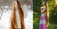 Esta chica dejó crecer su cabello por 13 años y se transformó en la Rapunzel humana