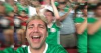 La desatada celebración de Cristian Castro tras triunfo de México ante Uruguay