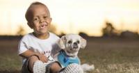 Niño conoció a perro con su misma condición y no se pudieron separar nunca más