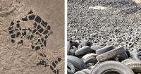 Así es la impactante forma en que luce el cementerio de neumáticos más grande del mundo