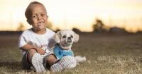 Conoció a un perro con su misma condición y de ahí no se pudieron separar nunca más