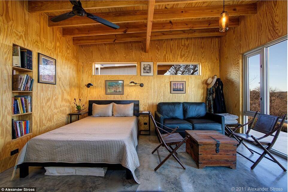 Dormitorio de las cabañas