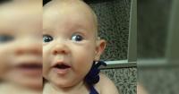 Emocionante momento cuando bebé escucha la voz de su madre por primera vez