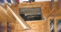 Descubrieron una puerta secreta en el piso de su nueva casa y no podían creer lo que encontraron