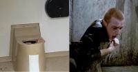 A lo Trainspotting: quedó atrapado dentro del excusado al intentar recuperar un celular