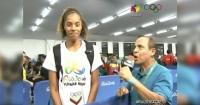 Periodista presiona para que una atleta agradezca su medalla al Presidente Maduro