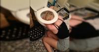 Madre aburrida de las resacas de su hija transformó esta foto en una inolvidable sorpresa de cumpleaños