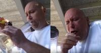Tuvo la mala idea de fumar el chile más picante del mundo y el resultado fue desastroso