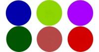 Solo los ojos más agudos pueden ver los objetos dentro de los círculos de colores
