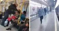 La valiente reacción de una mujer al ver que su marido es golpeado por un racista en el Metro