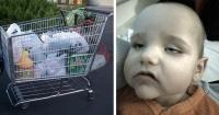 Puso a su bebé en un carro de supermercado y vivió una horrorosa experiencia