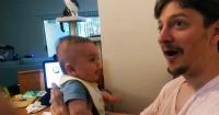 """Le decía """"te amo"""" a su bebé de 3 meses y recibió una respuesta que lo dejó paralizado"""
