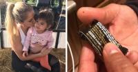 Jamás imaginó lo que encontraría en un chocolate que su hija recibió en Halloween