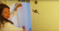 Puso plástico con burbujas en una ventana y así se ahorró mucho dinero