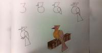 Solo con números y letras puedes enseñarle a tu hijo a hacer lindos dibujos