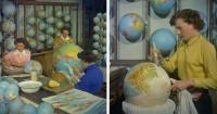 El video de cómo fabricaban globos terráqueros en los años 50 que hipnotiza al que lo ve