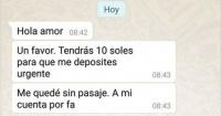 Le pidió a su novio que le hiciera un depósito y recibió una respuesta tan literal que se volvió viral