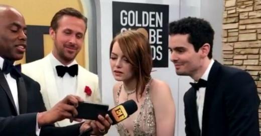 La inesperada reacción de Emma Stone al ver el beso entre su ex y Ryan Reynolds