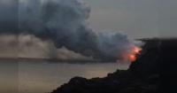 El impactante momento en que un gran fragmento de Hawái se cae al océano