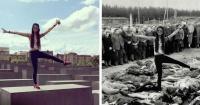 """Artista le dio una cruda lección a todos los que se toman selfies """"riendo"""" en el Memorial del Holocausto"""