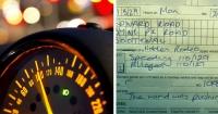Iba a 127 Km/h en su automóvil y cuando la detuvo la policía dio una ridícula excusa