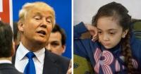 """""""Señor Trump, ¿ha estado sin comer ni beber durante 24 horas?"""": El desgarrador mensaje de una niña siria de 7 años"""