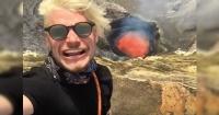 Se grabaron junto a un volcán a punto de hacer erupción y esto fue lo que pasó