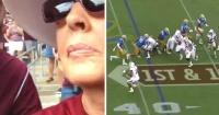Su abuela quiso grabar un partido de fútbol pero comete hilarante error que la convierte en viral