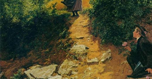 """¿Será una viajera del tiempo? Descubren un """"iPhone"""" en una pintura de más de 150 años de antigüedad"""