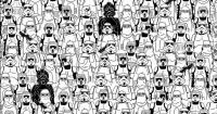 Un desafío galáctico: encuentra el oso panda entre los soldados imperiales de Star Wars