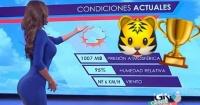 Chica del tiempo de México celebró el título de su club mostrando su mejor atributo