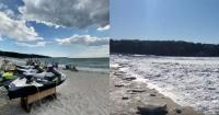 """El video más impactante de """"la era de hielo"""" en EE.UU.: se congeló el mar en Massachusetts"""