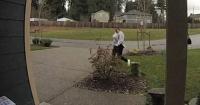 Ladrona intentó robar un paquete de una casa y conoció el karma al instante